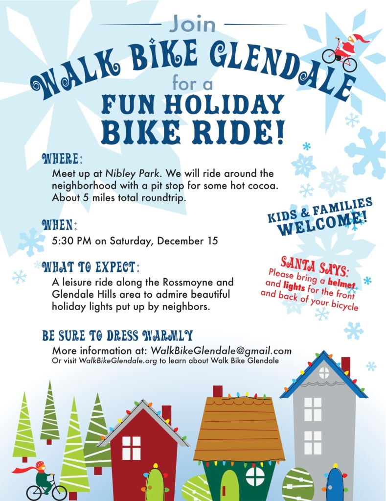 Holiday Bike Ride on Saturday, December 15, 2012