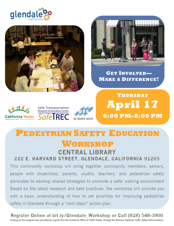 Pedestrian Safety Workshop Flyer